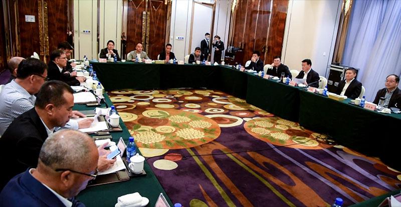 朱林森指挥长一行莅临新疆浙江商会就阿克苏地区招商引资工作和浙商企业家座谈交流