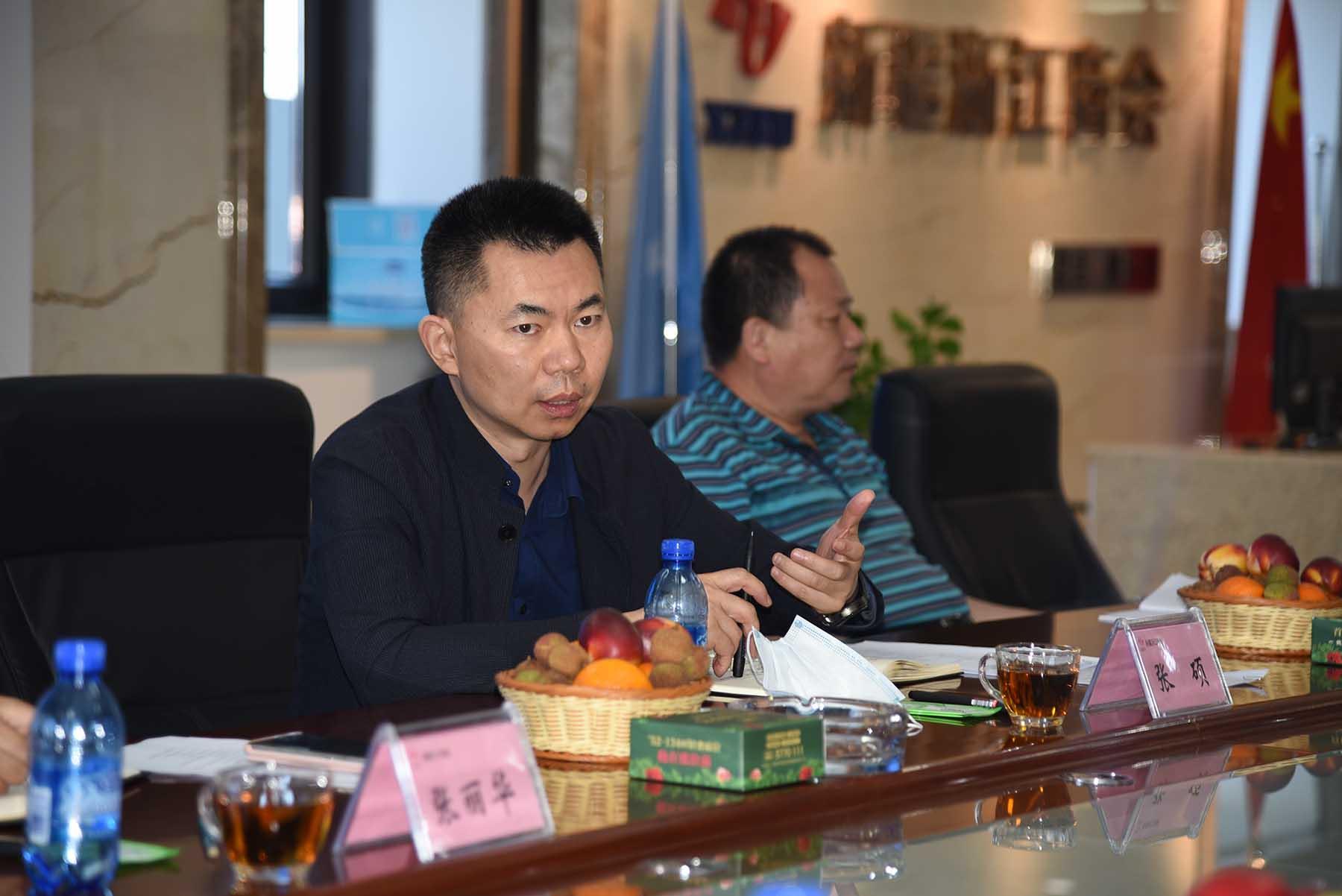 自治区商务厅党组成员、副厅长张硕一行莅临新疆浙江商会调研